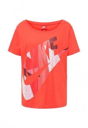 Футболка Nike. Цвет: оранжевый