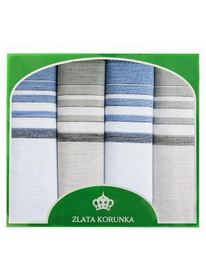 Платок носовой ZLATA KORUNKA. Цвет: голубой, серый