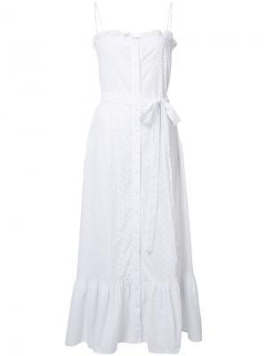 Платье на пуговицах с узором Lisa Marie Fernandez. Цвет: белый