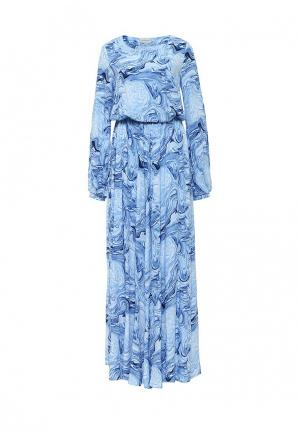 Платье Bella Kareema. Цвет: голубой