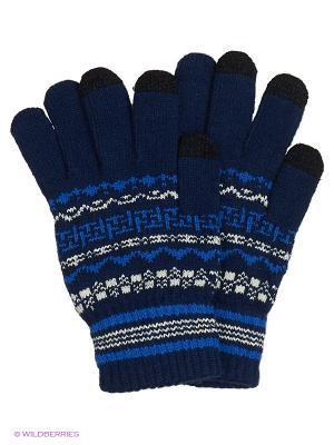 Перчатки для сенсорных экранов TERRITORY. Цвет: синий