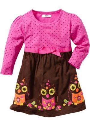 Платье (цвет фуксии/темно-коричневый) bonprix. Цвет: цвет фуксии/темно-коричневый
