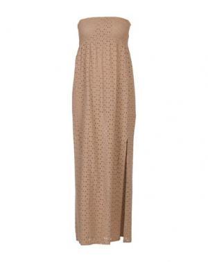 Платье длиной 3/4 YES ZEE by ESSENZA. Цвет: песочный
