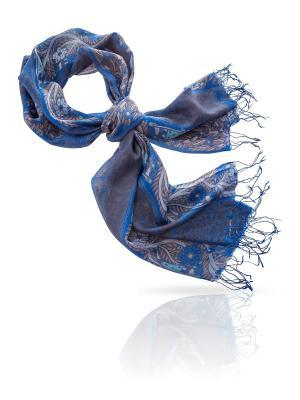 Палантин MICHEL KATANA`. Цвет: синий, голубой, светло-коричневый, серо-голубой, серый