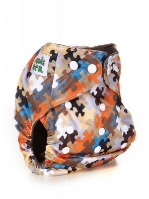 Многоразовый подгузник Mum`s Era. Цвет: антрацитовый, бежевый, белый, бирюзовый, коричневый, кремовый, молочный, оранжевый, персиковый, рыжий, светло-бежевый, светло-коричневый, светло-серый, серый
