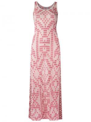 Knit maxi dress Cecilia Prado. Цвет: белый