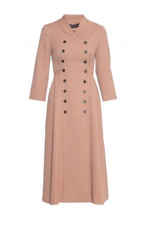 Платье из искусственного шелка 180594 Cyrille Gassiline. Цвет: бежевый