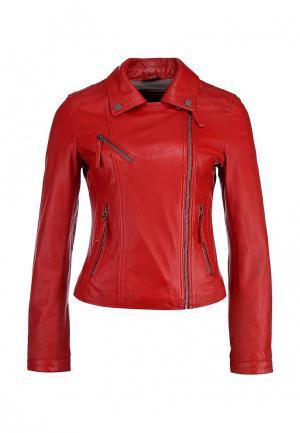 Куртка кожаная Oakwood. Цвет: красный