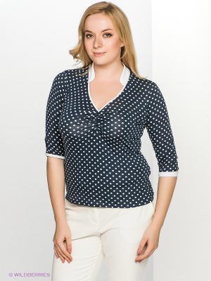Блузка T&M. Цвет: темно-синий, белый