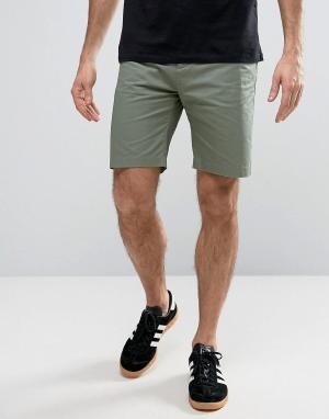 Penfield Зеленые прямые шорты-чиносы Yale. Цвет: зеленый