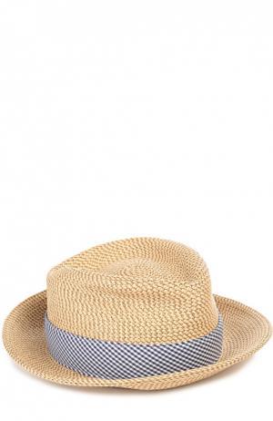 Шляпа с лентой Eric Javits. Цвет: бежевый