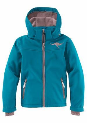 Куртка Kangaroos. Цвет: зелено-синий