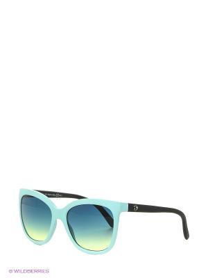 Солнцезащитные очки Franco Sordelli. Цвет: голубой