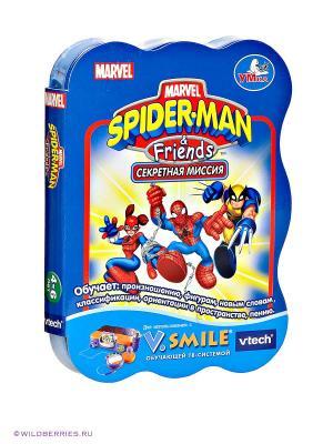 Картридж «Человек-паук и друзья» к ТВ-приставке Vtech. Цвет: синий