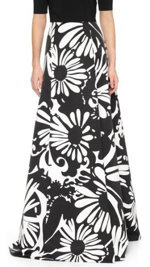 Макси-юбка с принтом KAUFMANFRANCO. Цвет: насыщенно-черный/сияющий белый