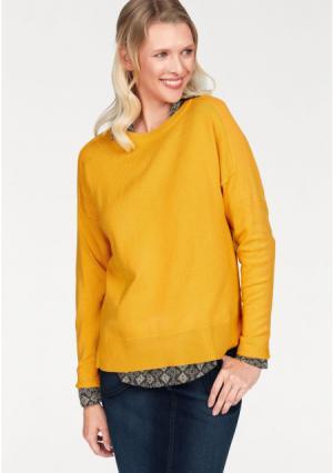 Пуловер CHEER. Цвет: горчичный