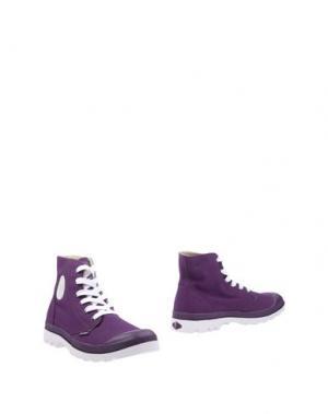 Полусапоги и высокие ботинки PALLADIUM. Цвет: фиолетовый