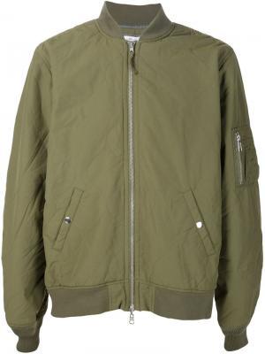 Куртка-бомбер 321. Цвет: зелёный