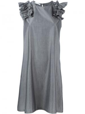 Платье Larouche Société Anonyme. Цвет: серый