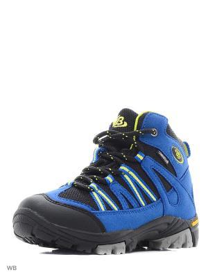 Ботинки EB Kids. Цвет: голубой, желтый, черный