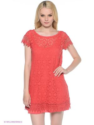 Платье Fullah Sugah. Цвет: коралловый