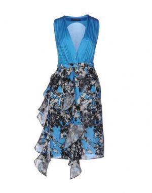 Платье до колена EMANUEL UNGARO. Цвет: лазурный