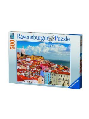 Пазл Лиссабон, Португалия 500 шт Ravensburger. Цвет: голубой