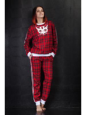 Спортивный костюм Красная кошка MARRUSHKA. Цвет: красный, черный