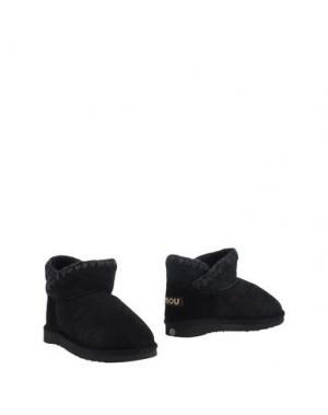 Полусапоги и высокие ботинки MOU. Цвет: черный