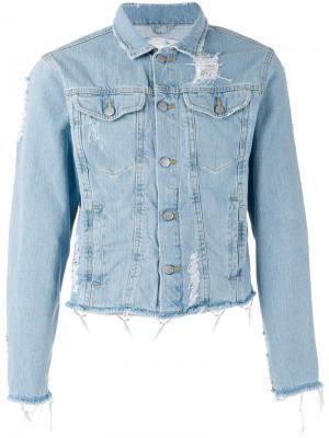 Состаренная джинсовая куртка Desiress Misbhv. Цвет: синий