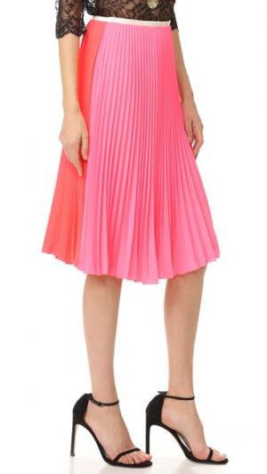 Плиссированная юбка Loyd/Ford. Цвет: ярко-розовый