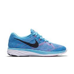 Женские беговые кроссовки  Flyknit Lunar 3 Nike. Цвет: синий