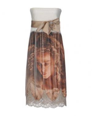 Платье до колена X'S MILANO. Цвет: хаки