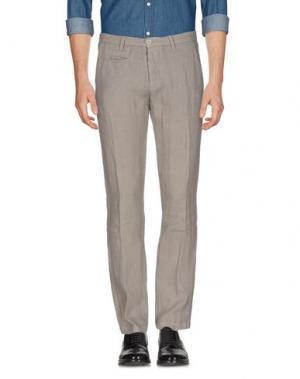Повседневные брюки UNIFORM. Цвет: голубиный серый