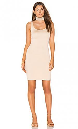 Миди платье с зауженным подолом BLQ BASIQ. Цвет: беж