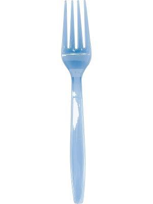 Ножи и Вилки пластиковые для горячих/холодных пищ. продуктов 10+10 шт, синие, 20 шт. DUNI. Цвет: синий