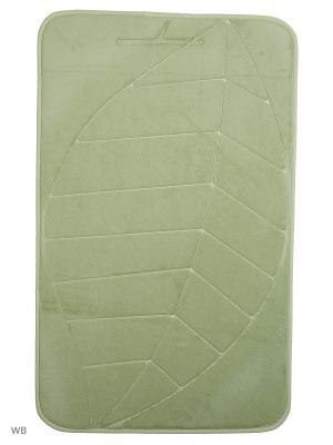 Коврик для ванной Leaf 53х86,салатовый Jardin. Цвет: салатовый