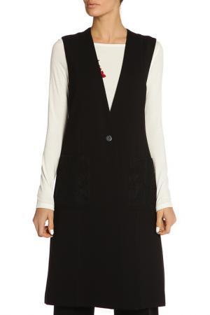 Пальто TWIN-SET. Цвет: черный