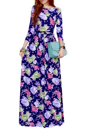 Платье FRANCESCA LUCINI. Цвет: голубой, зеленый, роза