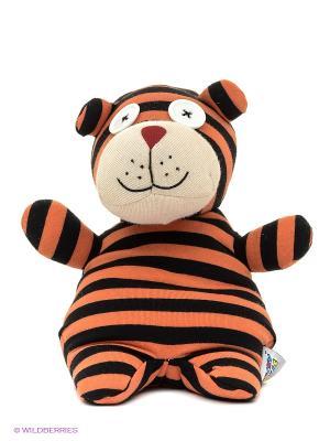 Игрушка-грелка Socky Dolls Тигр Тедди Warmies. Цвет: рыжий, черный