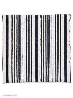 Декоративная наволочка 43х43, молния, чёрно-белые полоски Asabella. Цвет: белый, черный