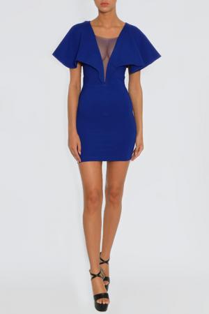 Платье Rare london. Цвет: синий