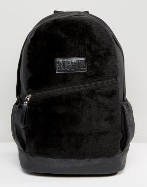 Systvm Черный рюкзак из искусственной замши. Цвет: черный