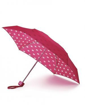 Зонт механический Губы  by Fulton Lulu Guinness. Цвет: красный