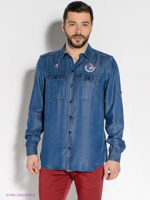 Рубашка BOSCO. Цвет: темно-синий