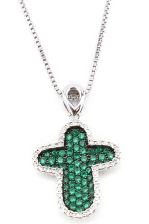 Колье Donna Lorena. Цвет: зеленый, серебро