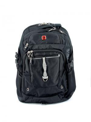 Рюкзак WENGER. Цвет: черный, серебристый