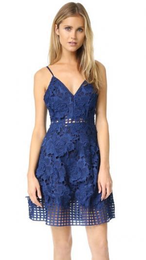 Платье Bellini Lovers + Friends. Цвет: темно-синий