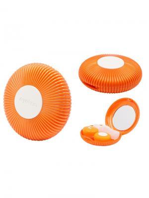 Набор для контактных линз Ракушка К1602-С07 Germes. Цвет: оранжевый, белый