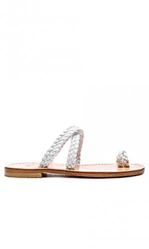 Braided cross sandal Capri Positano. Цвет: white